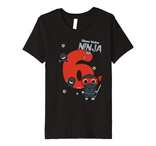 Kinder Geburtstagsshirt 6 Jahre Ninja kleiner Ninja (Kinder Turtle-outfit Ninja)
