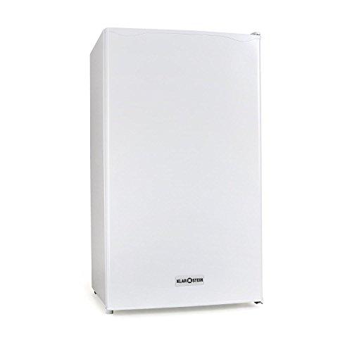 Klarstein 90L1-WH - Kühlschrank, Standkühlschrank, 90 L, 2 x Regaleinschub, Schublade, separates Eisfach, 3 Depots in der Tür, leise, Türanschlag rechts, weiß