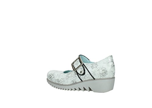 Wolky  Move, Mocassins pour femme 711 white/black canal leather