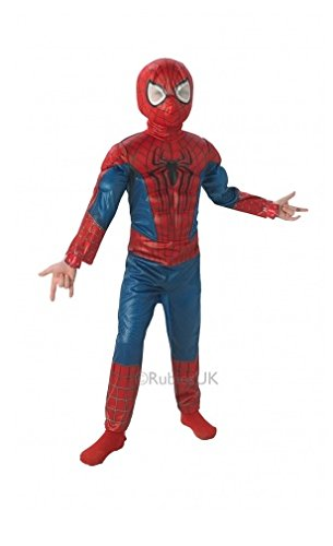 Spiderman - 154978s - Serie Luxus 3D Eva - Amazing Spiderman 2 Kostüm - Größe S