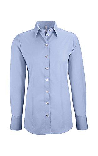 Greiff Damen-Bluse BASIC, Regular Fit, Stretch, easy-care, 6515, mehrere Farben Bleu