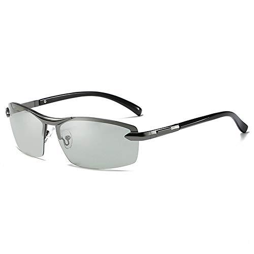 GXM-FR Sonnenbrillen, Smart Photochromic Polarized Lenses Goggles für Herren, Geeignet für 100% UV-Schutz im Freien, Blendschutz, Reduziert Ermüdungserscheinungen der Augen,Gray