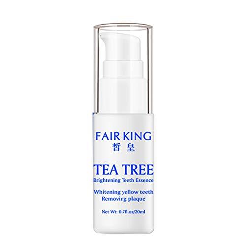 Vovotrade Essence de dent blanche éclatante Snail Brightening 1PC Essence Tea Tree Éclaircissant Dents Essence Huile Liquide 10ML