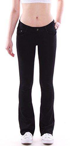 Damen Bootcut Jeans Hose Hüftjeans Schlagjeans schwarz Damenjeans Damenhose Schlag Schlaghose Weites Bein Hüfthose Hüft Lowrise Low Rise Oversize Over Size Plus Big Bigsize Gr Größe 46 3XL 1 (Größe Plus Jeans Weites Bein)