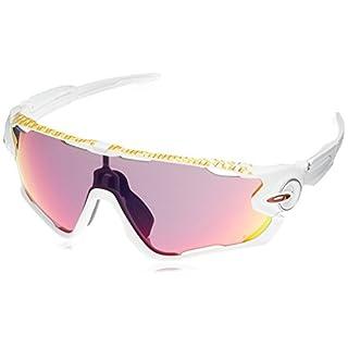 Oakley Herren Jawbreaker 929027 31 Sonnenbrille, Weiß (Matte White/Prizmroad),