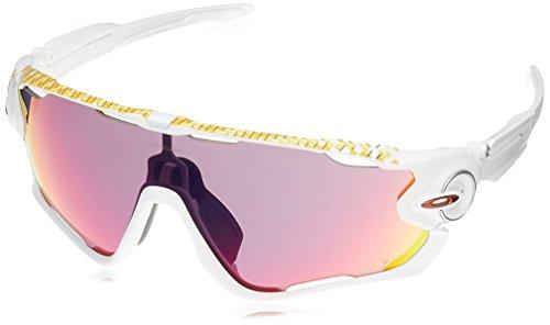 Oakley Herren Jawbreaker 929027 31 Sonnenbrille, Weiß (Matte White/Prizmroad)