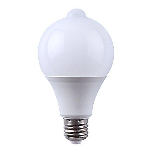 E27 LED Infrarot PIR Bewegungsensor Lampe LED Licht Außenbeleuchtung integriert Bewegungsmelder und Dämmerungssensor (9W 810LM, Warmweiß 3000K)