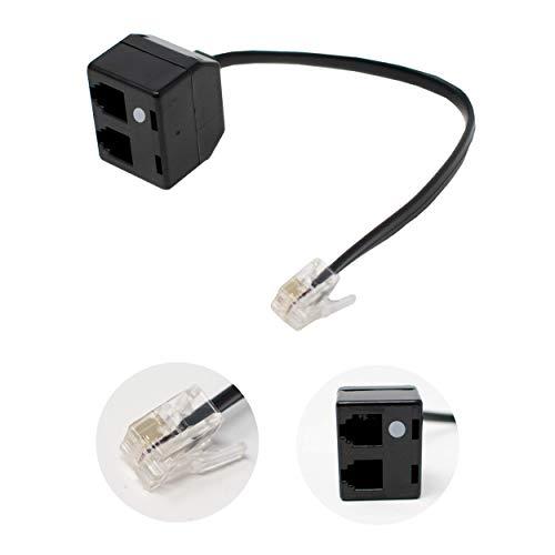 Doppel Headset RJ9-Adapter mit Mute / Dual Handset Anschluss Splitter / für Schulungszwecke / iCHOOSE -