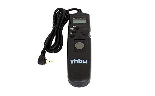 vhbw Fernauslöser Fernbedienung Kabel passend für Canon EOS 650D, 700D, 70D, 750D, 760D, 77D, 7D Mark II, 800D, 80D Kamera, Timer-Funktion