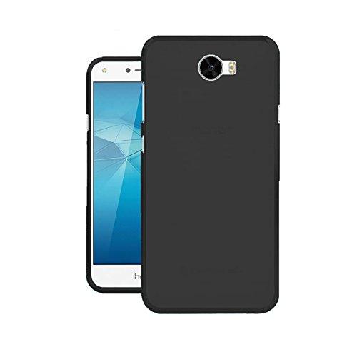 TBOC® Schwarz Gel TPU Hülle für Huawei Y6 II Compact - Y6II Compact - Y6 2 Compact (5.0 Zoll) Ultradünn Flexibel Silikonhülle (Nicht kompatibel mit Huawei Y6II 5.5 Zoll)