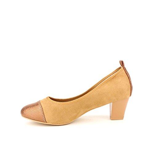 Cendriyon Escarpin Simili Peau Caramel CINK Moda Chaussures Femme Caramel