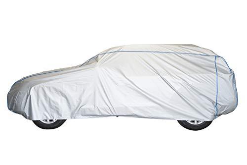 ballier Auto-Ganzgarage Autoabdeckung Platin - Größe FM (P) L485 x B195x H185 cm, SUV, Geländewagen – atmungsaktiv – leicht – wasserdicht – reißfest – lackschonend