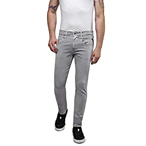 REPLAY Anbass, Herren Jeans Slim Fit, Regular Waist, stylische Hyperflex Stretch-Jeans für Männer, Denim-Jeans, Größen: 27 - 40