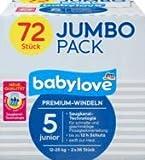 babylove Windeln Premium Größe 5, junior 12-25kg, Jumbo Pack, 2x36 Stück, 1 x 72 St