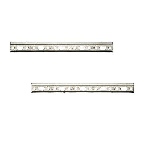 2 Stück - GedoTec® Schrankaufhänger-Schiene Aufhängeschiene für Oberschränke & Küchen-Möbel