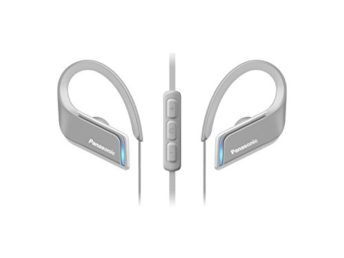 Panasonic Bluetooth In-Ear Kopfhörer RP-BTS55E-H in grau (wasserfest, Schnellladefunktion, flexible Ohrbügel, LED Licht)