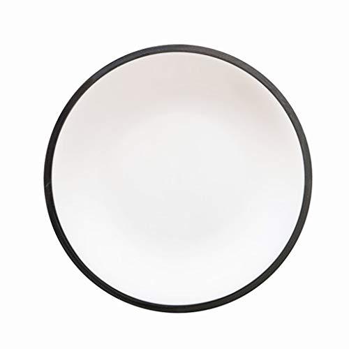 LI plaque- Plat rond en céramique bordé de deux couleurs grises - Home Western Restaurant Pâte Steak Cake Dessert Plat Japonais Sashimi De Sushi (1 Emballage) tableware (taille : 25.5cm)