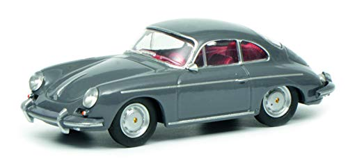 Schuco 452017900 Porsche 356, grau 1:64 452017900-Porsche, Modellauto, Modellfahrzeug