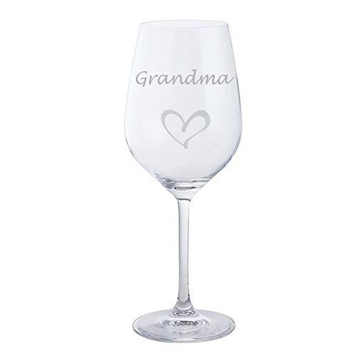 Grand verre à vin rouge avec cœur Dartington pour la fête des mères