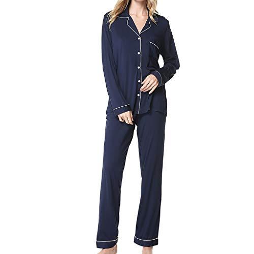 Vestito da Donna da Pigiama Pantaloni A Maniche Lunghe Vestiti La Casa Set in Due Pezz