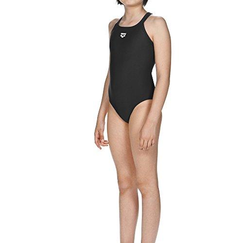 arena Mädchen Sport Badeanzug Dynamo (Schnelltrocknend, UV-Schutz UPF 50+, Chlor- /Salzwasserbeständig), schwarz (Black), 128