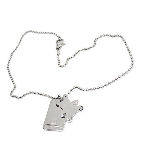 Dolce & gabbana d&g dj0741 collana acciaio con piastrina logo