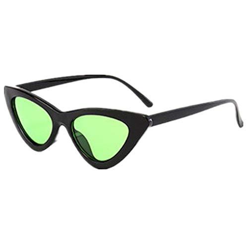 Sonnenbrille Polarisiert für Damen/Dorical Cateye Bonbonfarben Kleiner Rahmen Gläser Sonnenbrille mit UV-400 Schutz Vintage Brille Frauen Sunglasses Travel Eyewear(E)