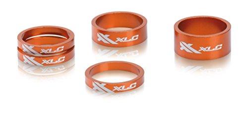 XLC Unisex- Erwachsene Lenkkopferweiterung A-Head Spacer-Set AS-A02 3x5/1x10/1x15 mm 1 1/8 Zoll, Orange, One Size -