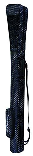 SL Golf Golftasche/Pencilbag/Reisebag/Rangebag/Pistolbag/Tragebag mit integrierter Schutzhaube und Außentasche in Farbe: Black-White-Point