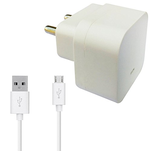ShopMagics Xiaomi redmi 4, Redmi 4a, Redmi Note 4, Redmi Note 3, Redmi 3s, Redmi 2, Redmi 3, Redmi Note Prime Charger Original Adapter Like Turbo Charger With 1 Meter Micro USB Cable Charging Cable Data Cable (White)