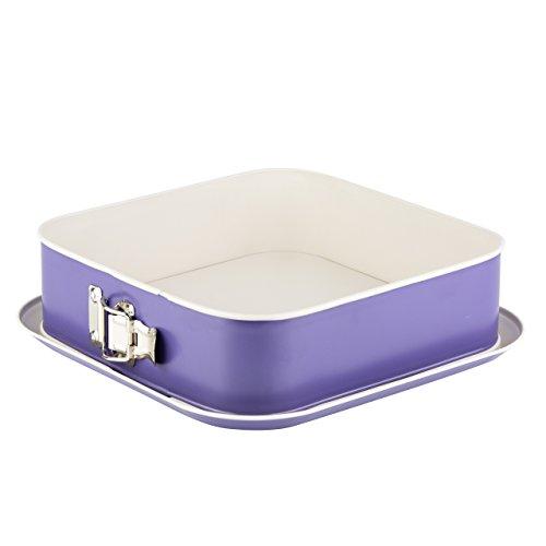 Grizzly Springform quadratisch 24x24 cm eckige Backform Purple/Creme