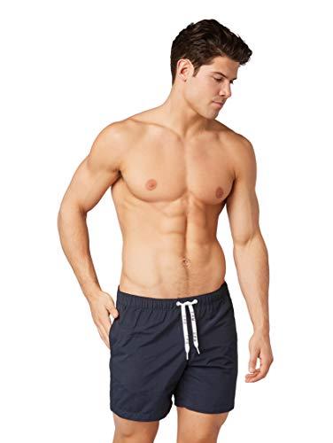 TOM TAILOR für Männer Beachwear/Bademode Schlichte Schwimm-Shorts Knitted Navy, XL