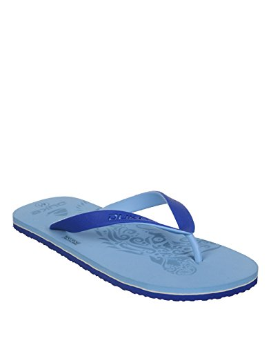 Duke Men's Skyblue & Navy Coloured Pvc Slippers 7  available at amazon for Rs.250