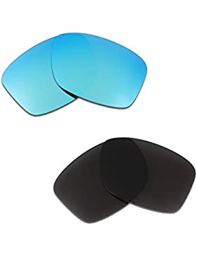 Hkuco Plus Mens Replacement Lenses For Oakley Jupiter Squared Sunglasses Blue/Black Polarized