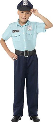 Police Welt Buch Woche Officer Kostüm mit Hemd Hose Gürtel & Hut, Blau (Police Fancy Dress Outfits)