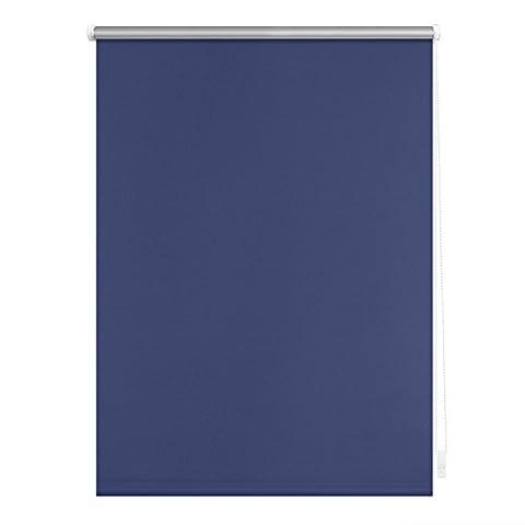 Lichtblick RKV.045.150.09 Thermo-Rollo Klemmfix, ohne Bohren, Verdunkelung - Blau 45 cm x 150 cm (B x L)