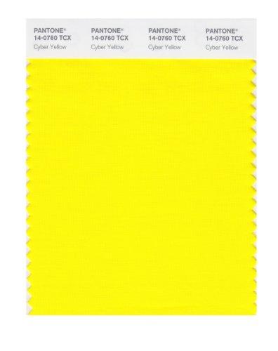 Pantone Smart Farbe Swatch Karte Gelb - Cyber Yellow