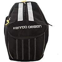 Kenrod 20308352 - Mochila Portacasco Expandible, Negro/Gris, Base 22 x 22 cm/Alto 40 x 31 cm