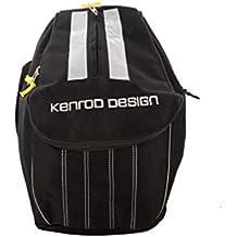 Kenrod 20308352 - Mochila Portacasco Expandible, Negro/Gris, Base 22 x 22 cm