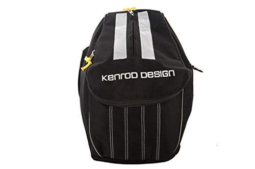 Kenrod Zaino per casco di motociclisti Riflettente Regolabile sul retro Include 3 carabiners Misure-Base 22x22 cm Altezza 40x31 cm