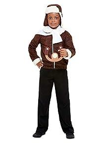 Smiffys 47745L WW1 disfraz de piloto, unisex para niños