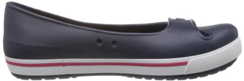 Crocs Ladies Crocband 2.5 Flat Through Ballerine Plateau Blu (navy / Lampone)