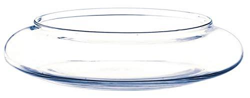 Coupe décorative en verre CHICO, transparent, 6 cm, Ø 26 cm - Centre de table en verre / Coupelle ronde - INNA Glas