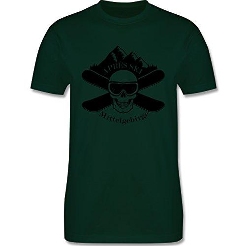 Après Ski - Apres Ski Mittelgebirge Totenkopf - Herren Premium T-Shirt Dunkelgrün