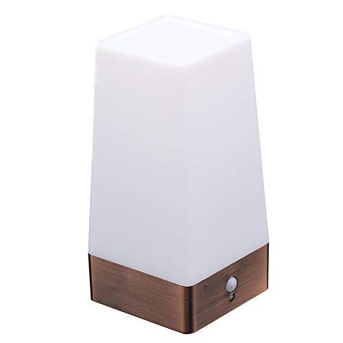 LNIMIKIY Lampe de Table à LED sans Fil avec détecteur de Mouvement PIR Free Size doré