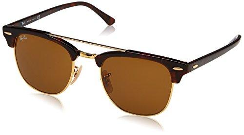 Ray-Ban Rayban Unisex-Erwachsene Sonnenbrille Rb3816 990/33 51mm Gold/Brown, 51