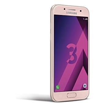 "Samsung Galaxy A3 2017 - Smartphone de 4.7"" (Octa Core 1.6 GHz, memoria interna de 16 GB, 2 GB de RAM, cámara de 13 MP, Bluetooth 4.1, Android 6.0) rosa"