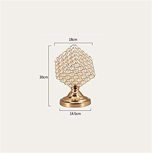 GZZ Gyy Home Hotel Beleuchtung Chic Cristallo Lampe, Creativo Kamera Da Letto Lampion Da Comodino Dekoration Piccola Scrivania Lampada Lampe Comodino Matrimonio Lampada Singola E27