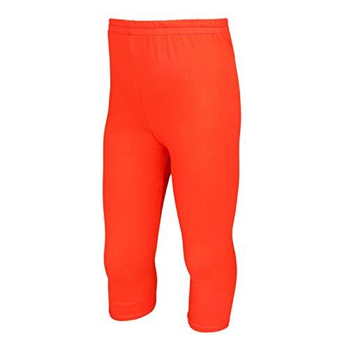TupTam Mädchen Leggings 3/4 Capri Blickdicht, Farbe: Orange, Größe: 158 -