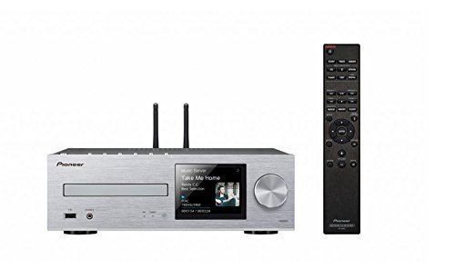 Pioneer Netzwerk CD-Receiver, XC-HM86D-S, Wiedergabe von Audio CD/CD-R/CD-RW/MP3 CD, DSD/HiRes Audio, Multiroom, WLAN, Bluetooth, Streaming, Musik Apps (Spotify, Tidal, Deezer), DAB+, Silber, 1500133 (Netzwerk-player Pioneer)